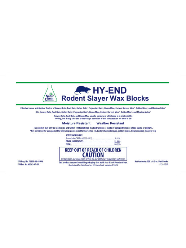 HY-END Rodent Slayer Wax Blocks